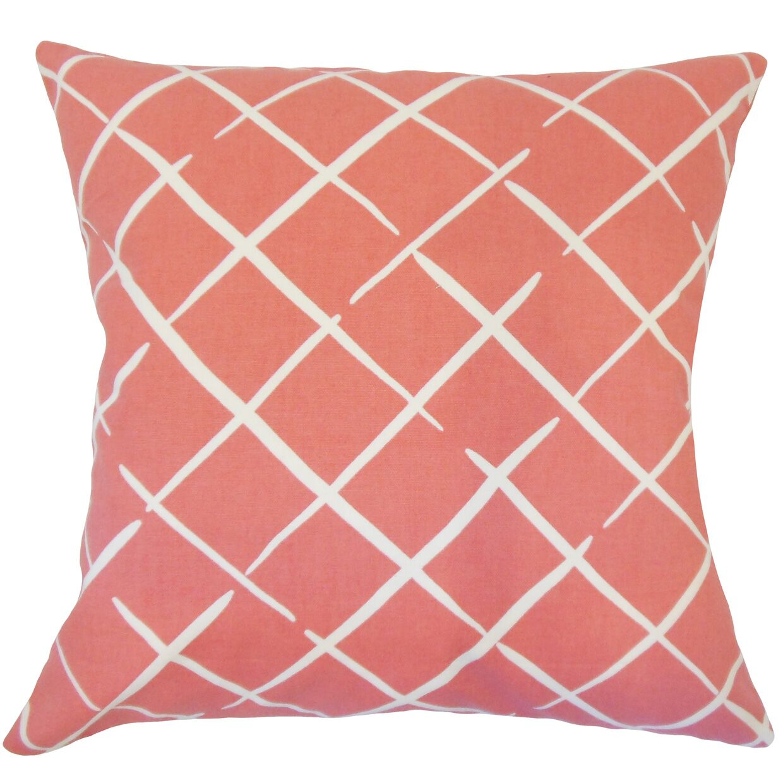 Kistner Geometric Down Filled 100% Cotton Throw Pillow Size: 18
