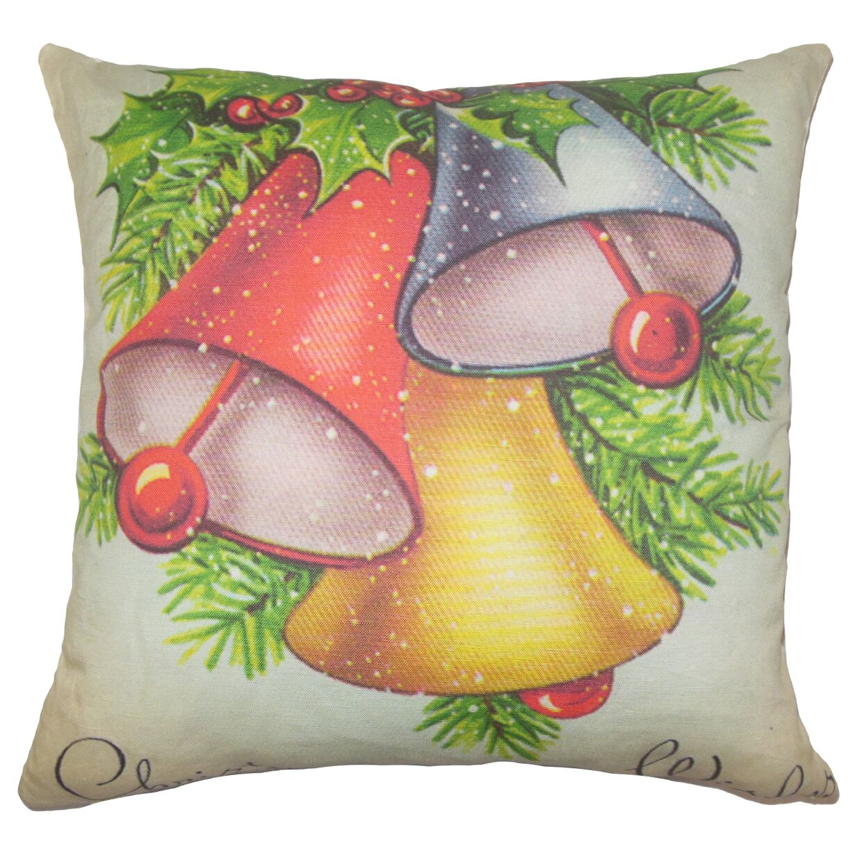 Merry Holiday Floor overstuffed Pillow