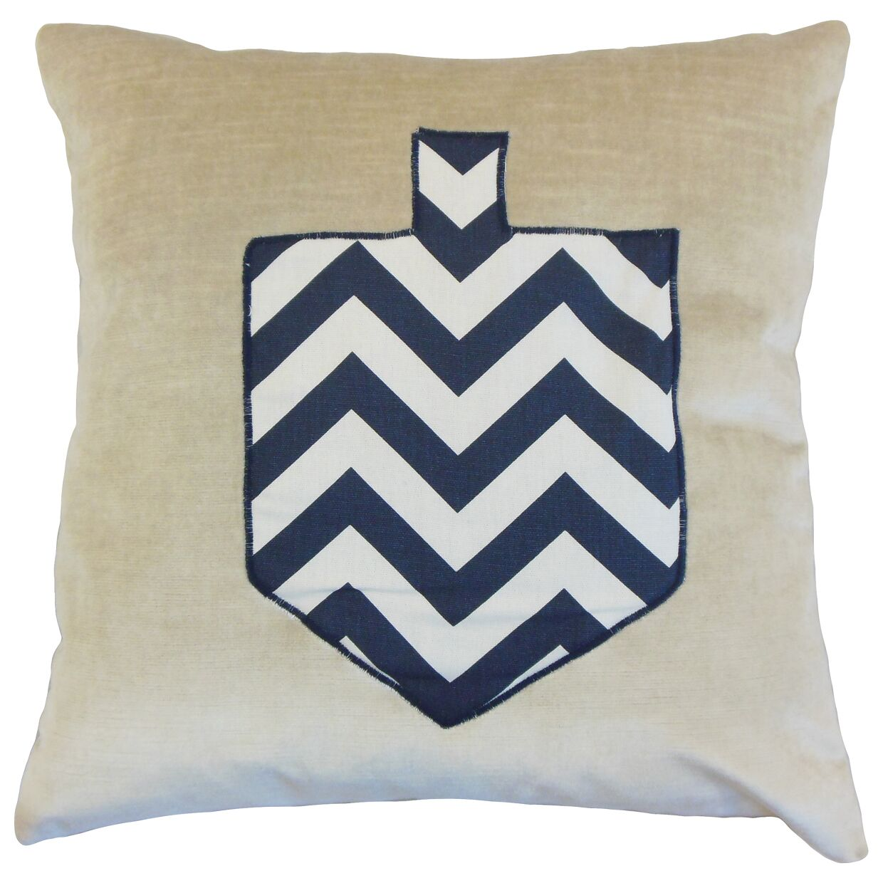 Jessica Holiday Floor Pillow Color: Chevron