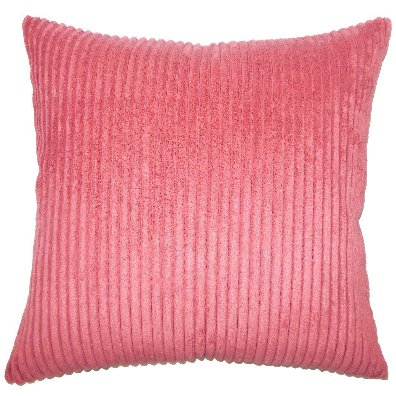 Burchett Solid Floor Pillow Color: Berry