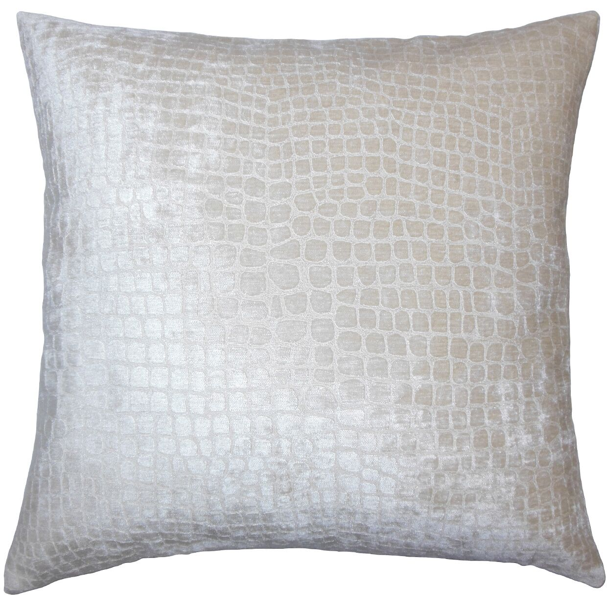 Lelon Solid Down Filled Throw Pillow Size: 24
