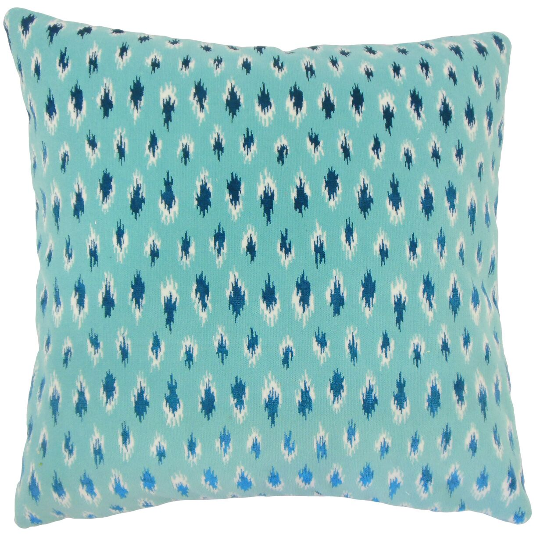 Drucilla Ikat Floor Pillow Color: Turquoise