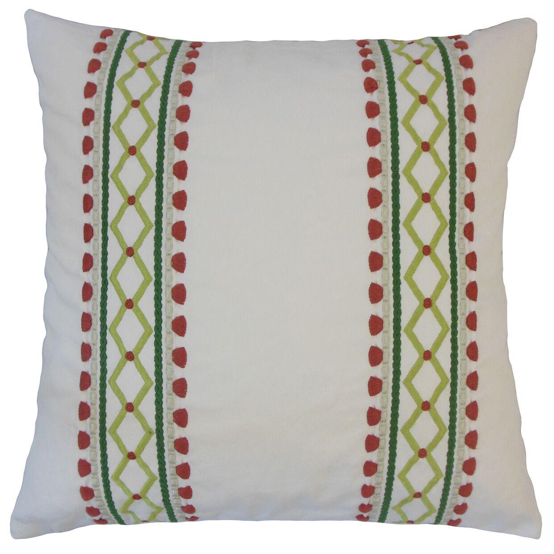 Kinser Geometric Down Filled 100% Cotton Throw Pillow Size: 22