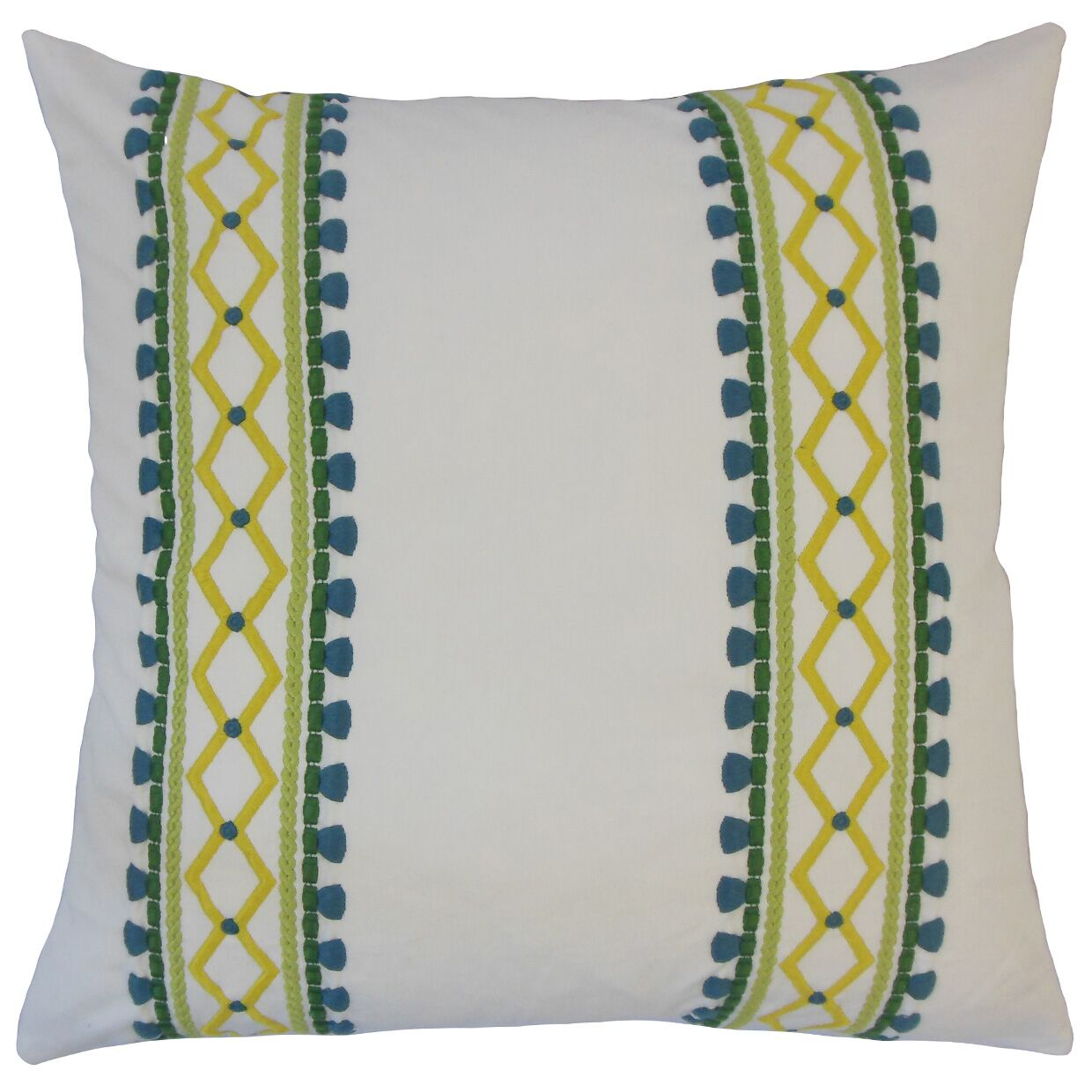 Navarro Geometric Floor Pillow Color: Palm