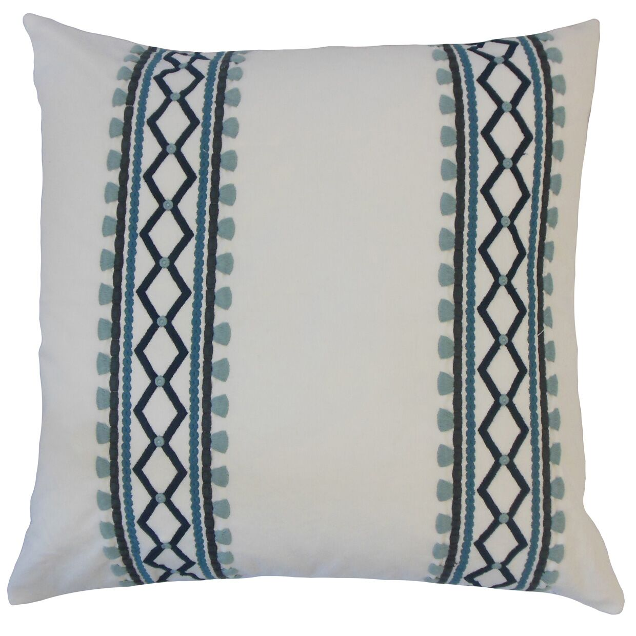 Kinser Geometric Down Filled 100% Cotton Throw Pillow Size: 24
