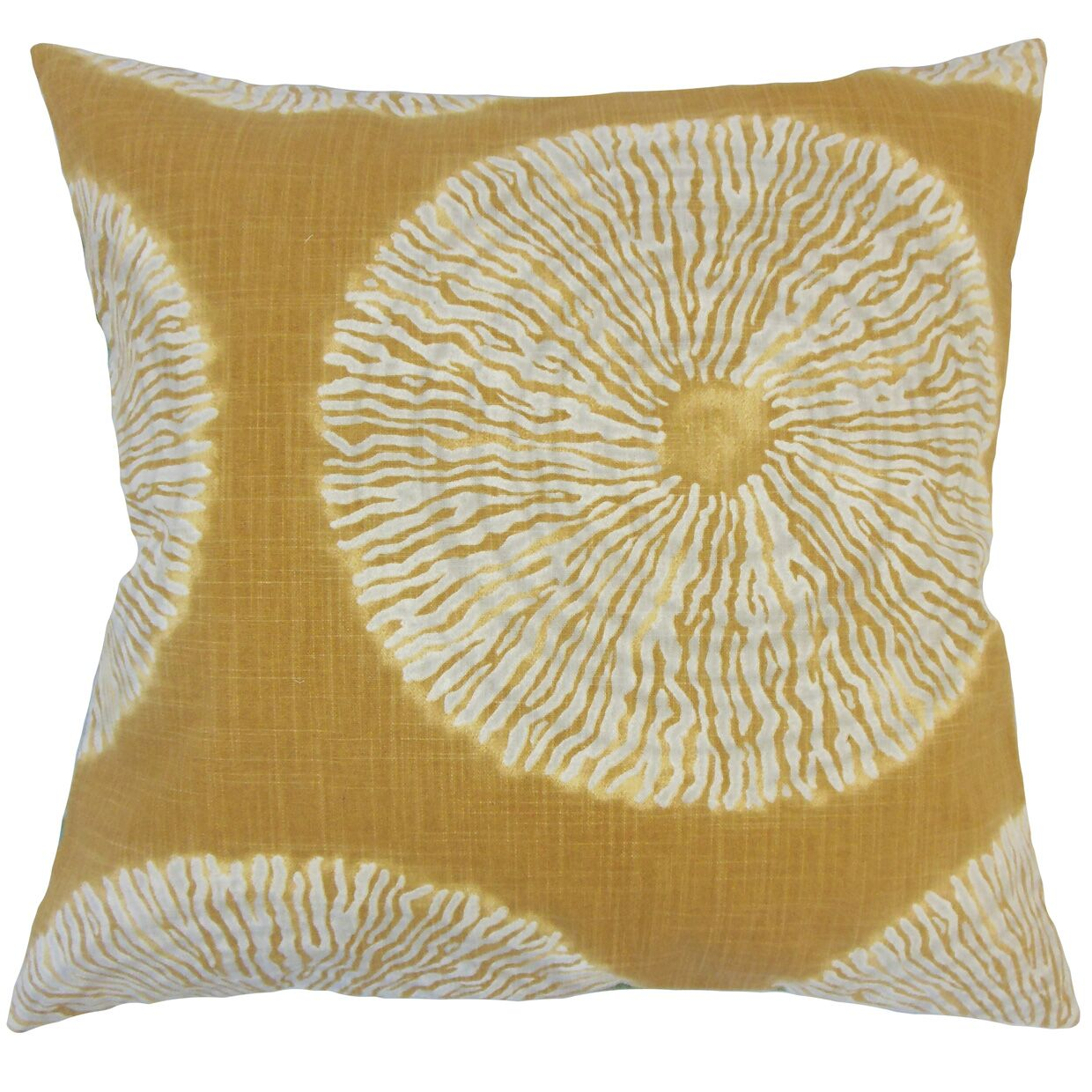 Hedgepeth Ikat Floor Pillow Color: Amber