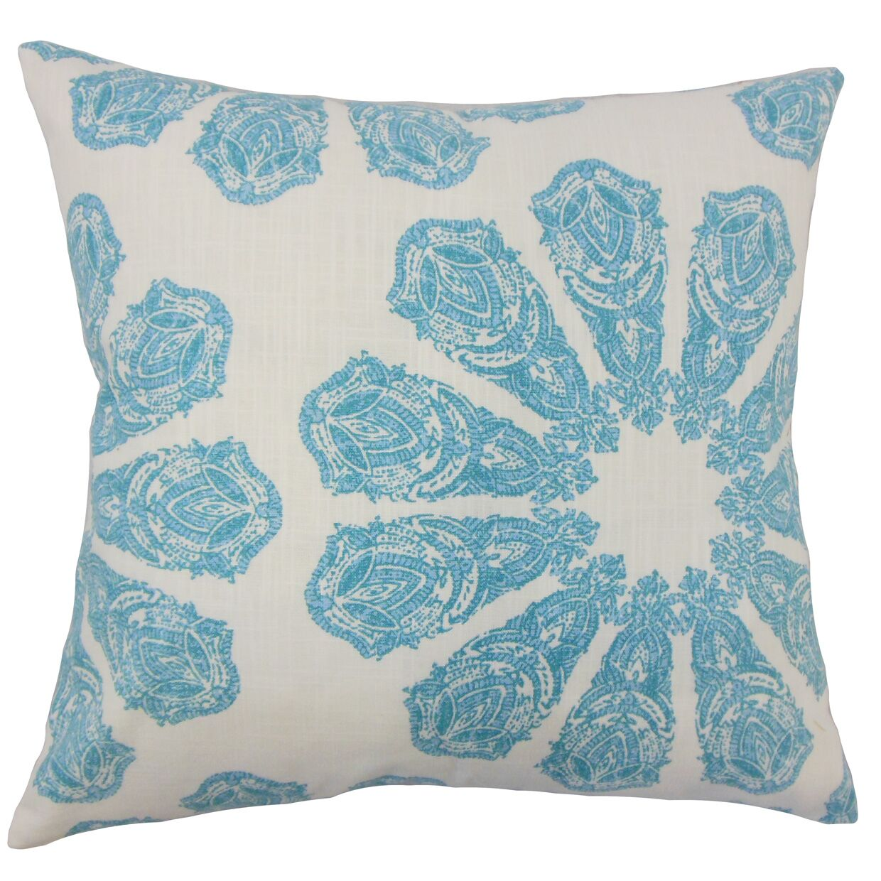 Candice Ikat Floor Pillow Color: Turquoise