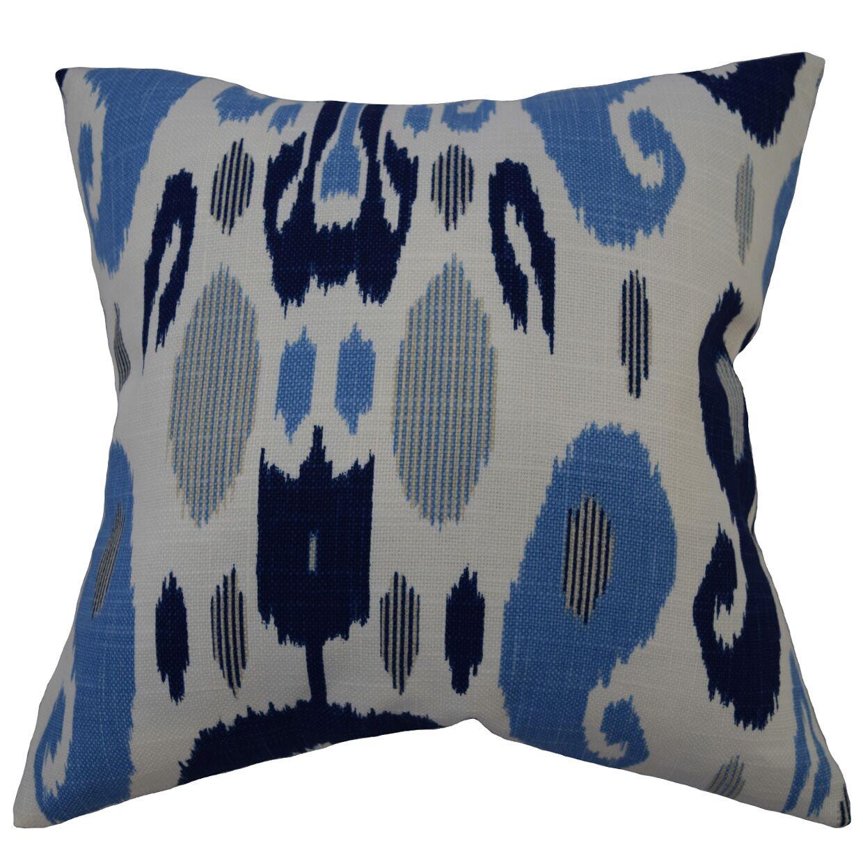 Mcree Doty Ikat Blue Floor Pillow