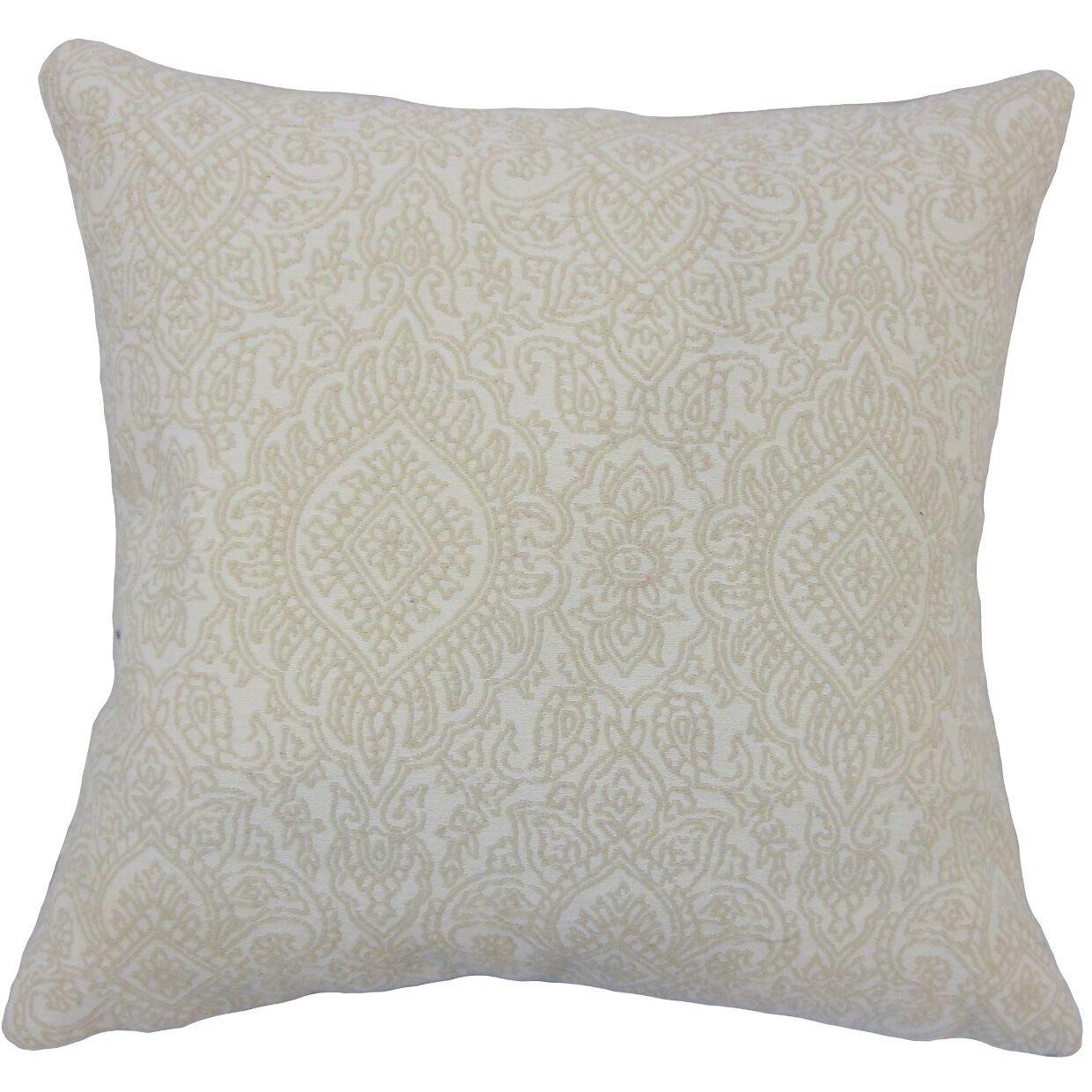 Corte Madera Damask Down Filled 100% Cotton Throw Pillow Size: 22