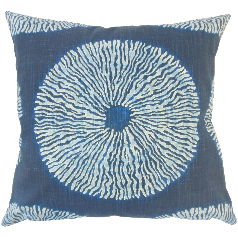 Sherrick Ikat Down Filled 100% Cotton Throw Pillow Size: 24