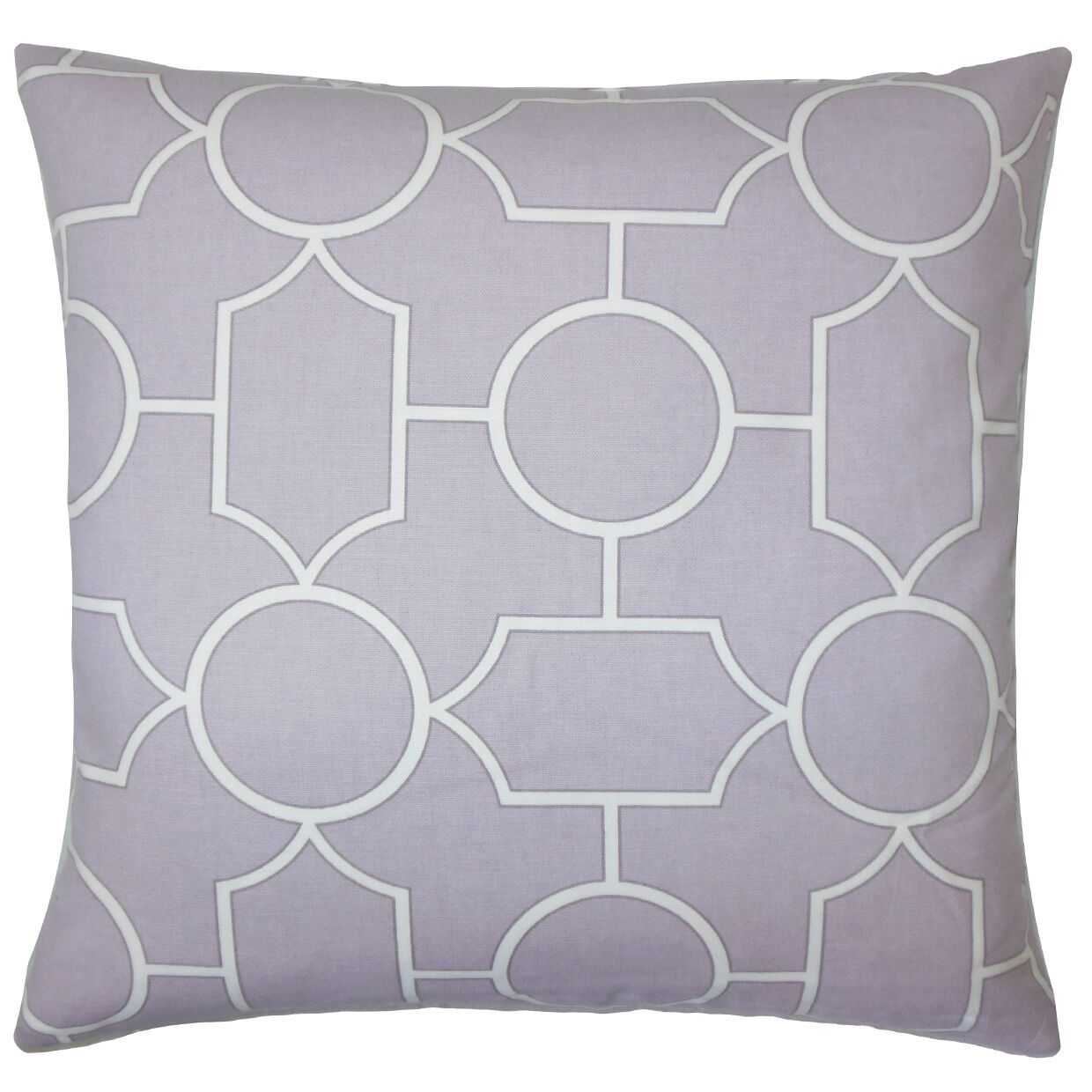 Leaston Hecate Geometric Floor Pillow Color: Lavender