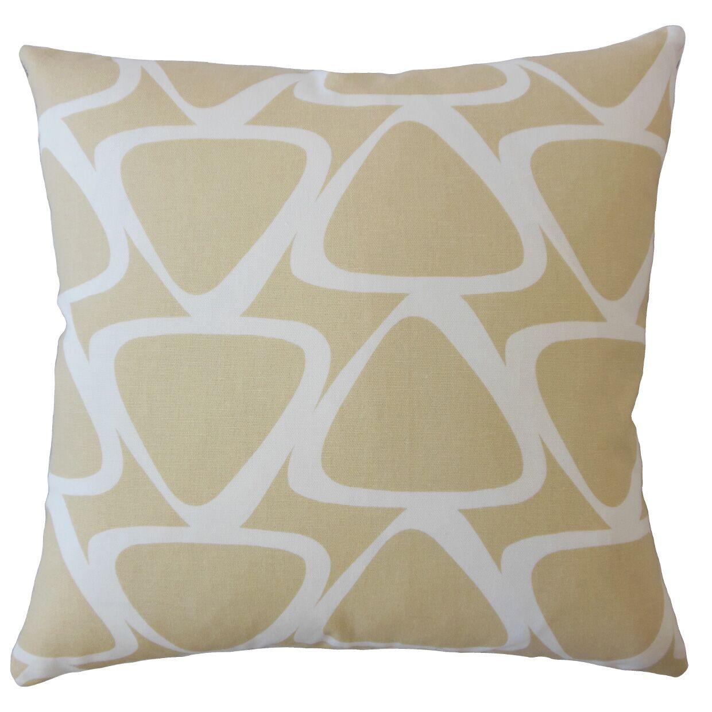 Ann Geometric Down Filled 100% Cotton Throw Pillow Size: 24