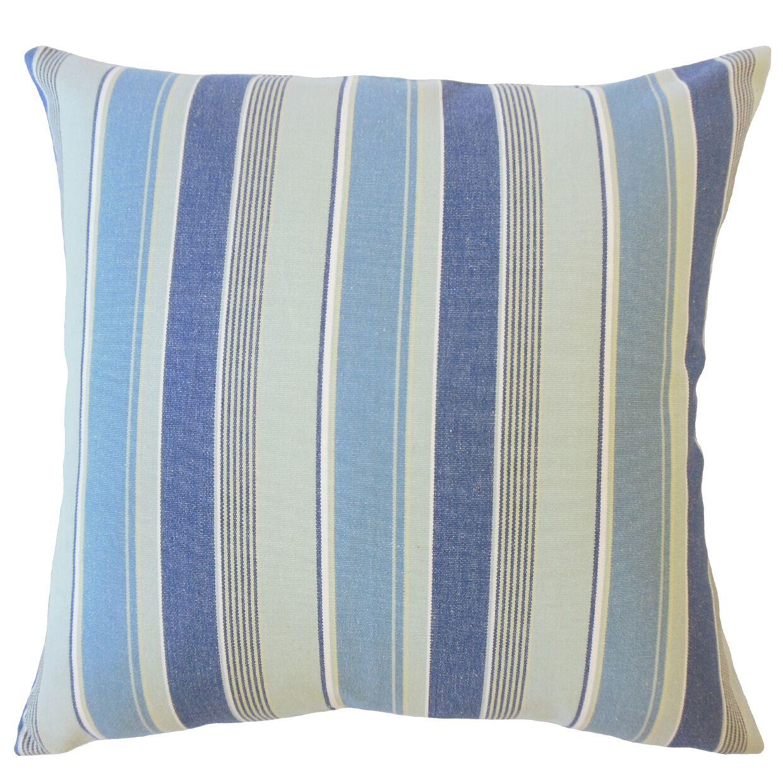 Bowdoinham Striped Down Filled 100% Cotton Throw Pillow Size: 24