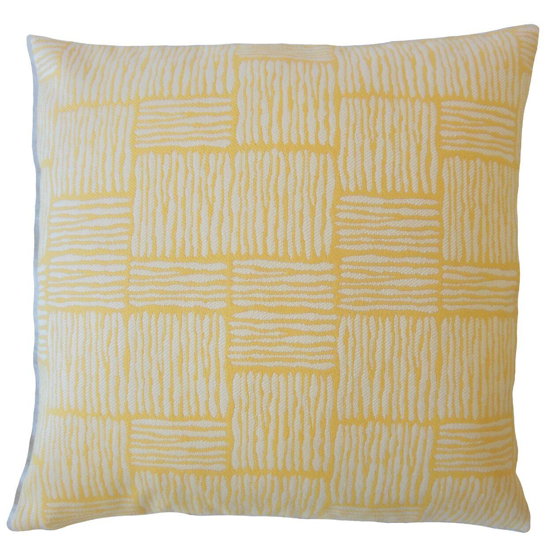 Latasha Striped Down Filled Throw Pillow Size: 24