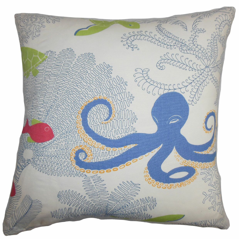 Ondine Coastal Cotton Throw Pillow Cover