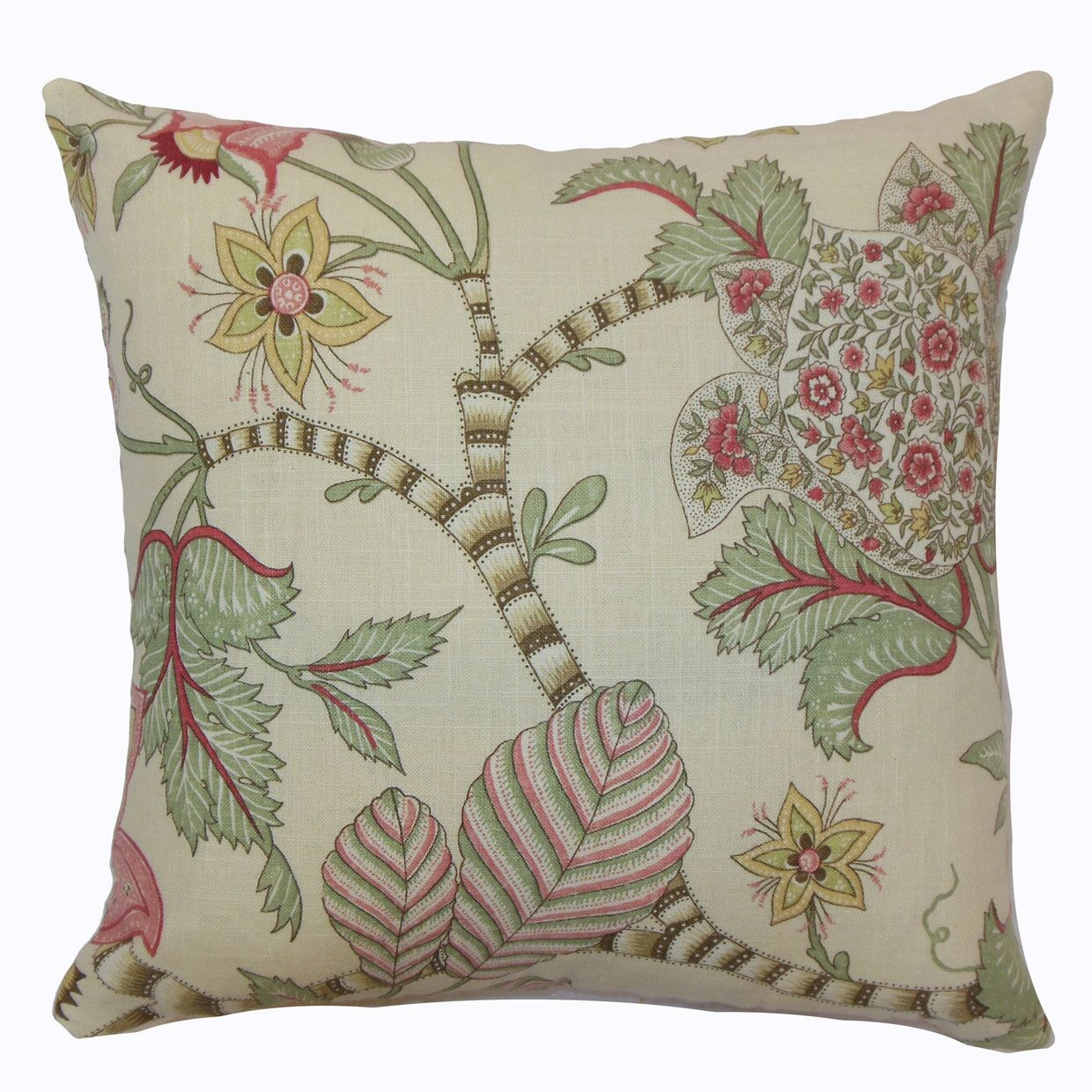 Elodie Floral Cotton Throw Pillow Cover Size: 20