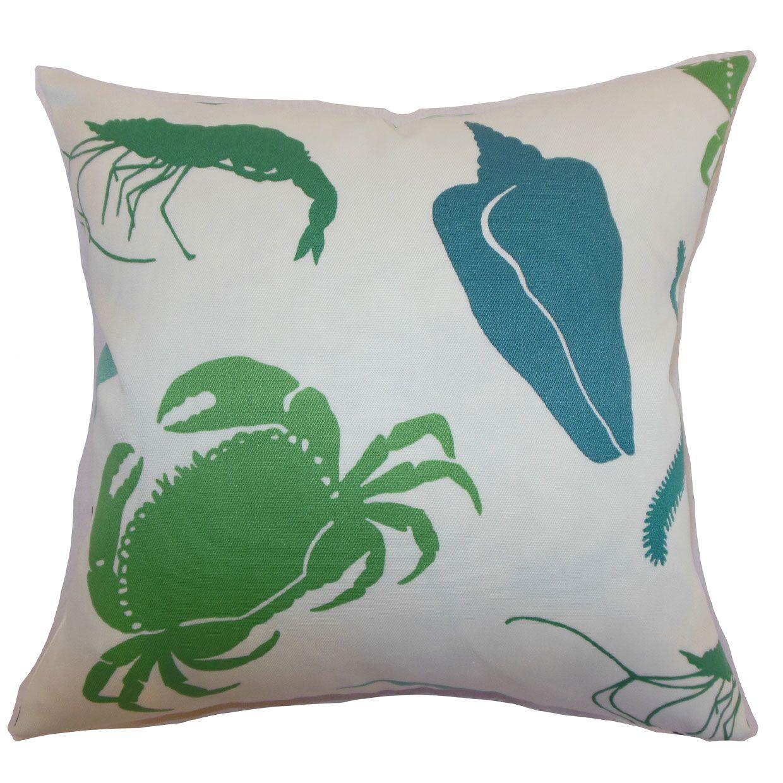 Decorah Aquatic Cotton Throw Pillow Color: Pool, Size: 20