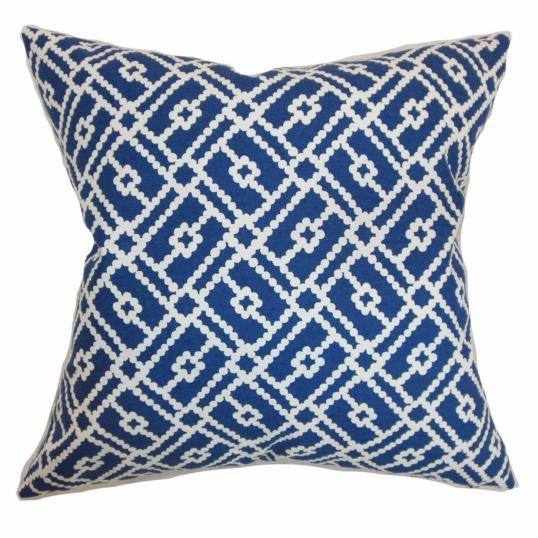 Majkin Geometric Bedding Sham Size: Standard, Color: Blue
