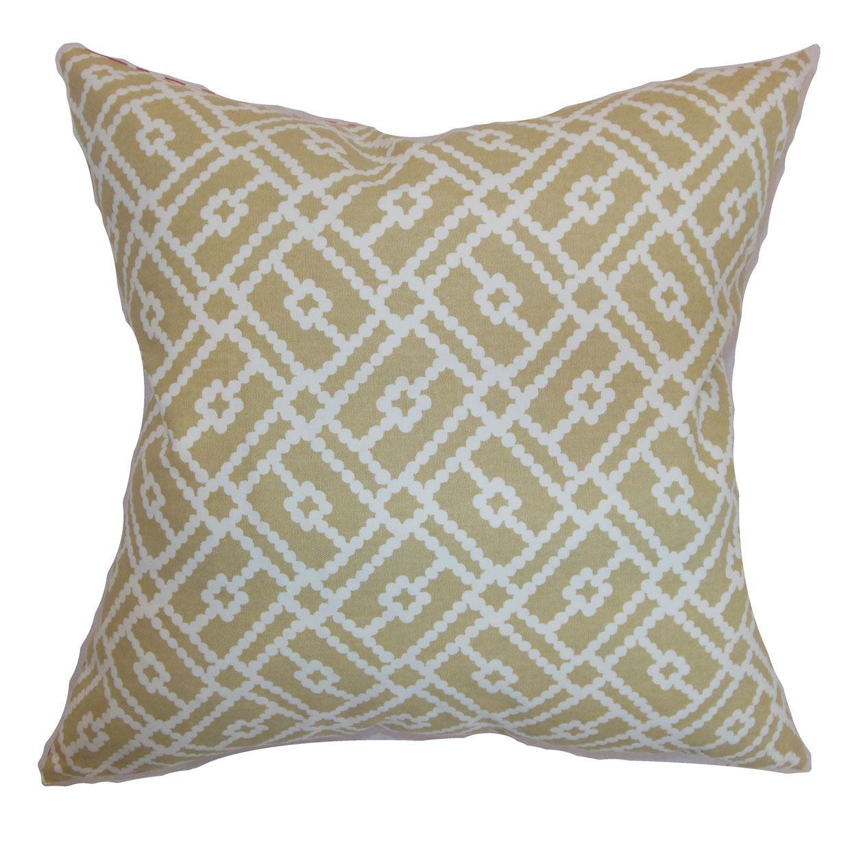 Majkin Geometric Bedding Sham Size: Queen, Color: Sand