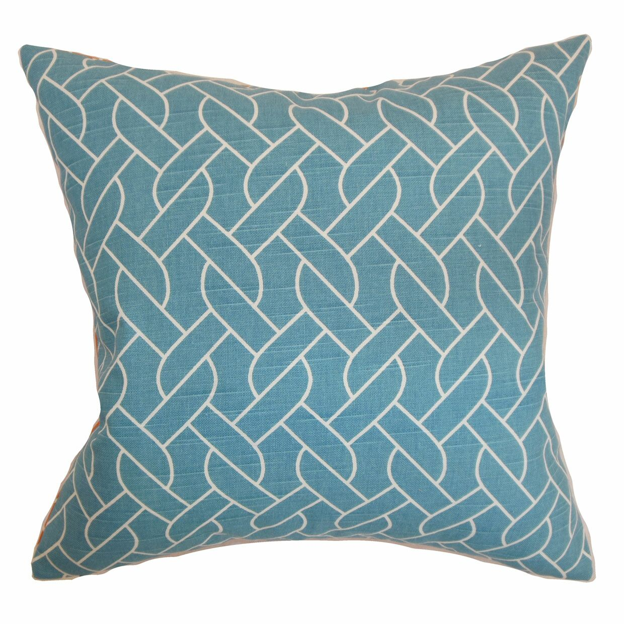 Harding Geometric Bedding Sham Size: Standard, Color: Aquamarine