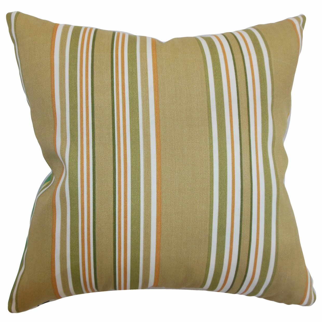 Fergus Stripes Throw Pillow Color: Autumn, Size: 20