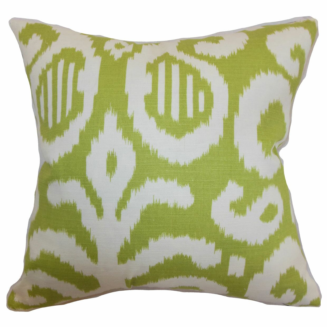 Hohenems Ikat Throw Pillow Color: Lime, Size: 20