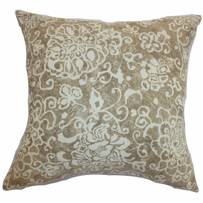Jaffna Floral Bedding Sham Size: Queen, Color: Wheat