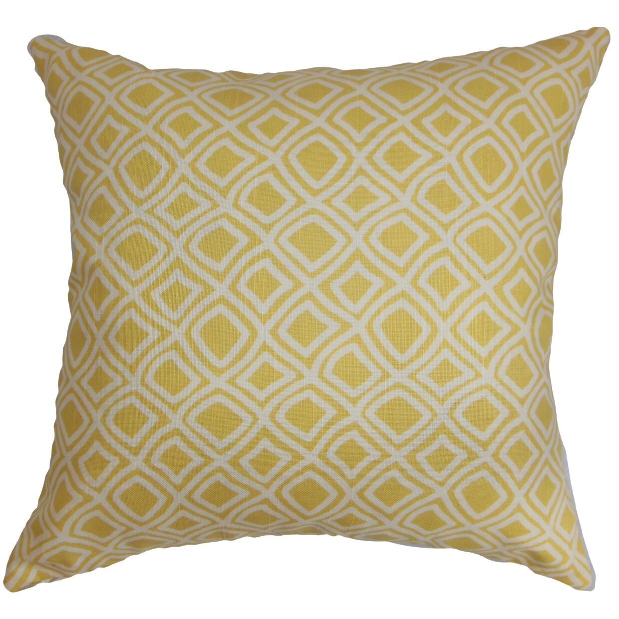 Cacia Geometric Bedding Sham Size: Euro, Color: Yellow