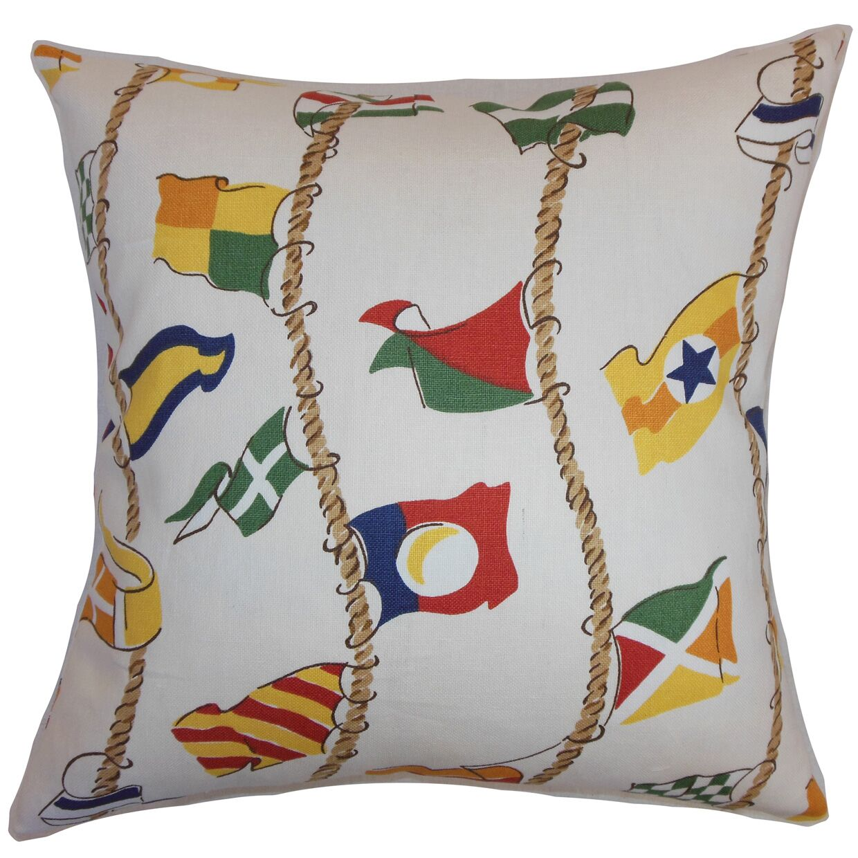 Inagua Flags Cotton Throw Pillow Size: 20