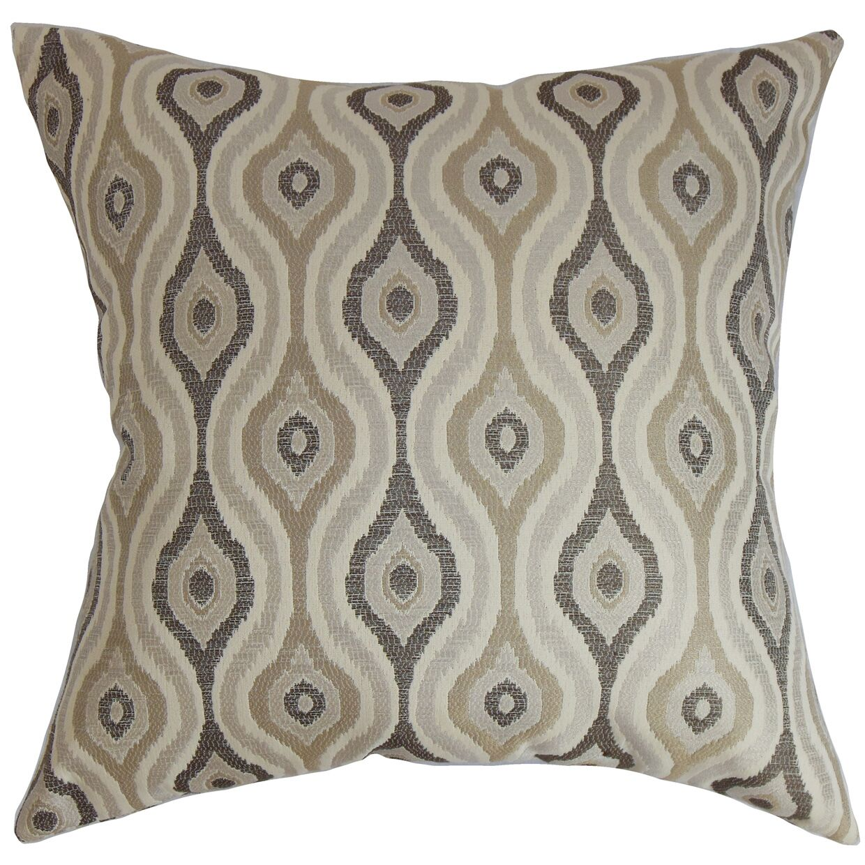 ie Ikat CottonThrow Pillow Color: Gray, Size: 22
