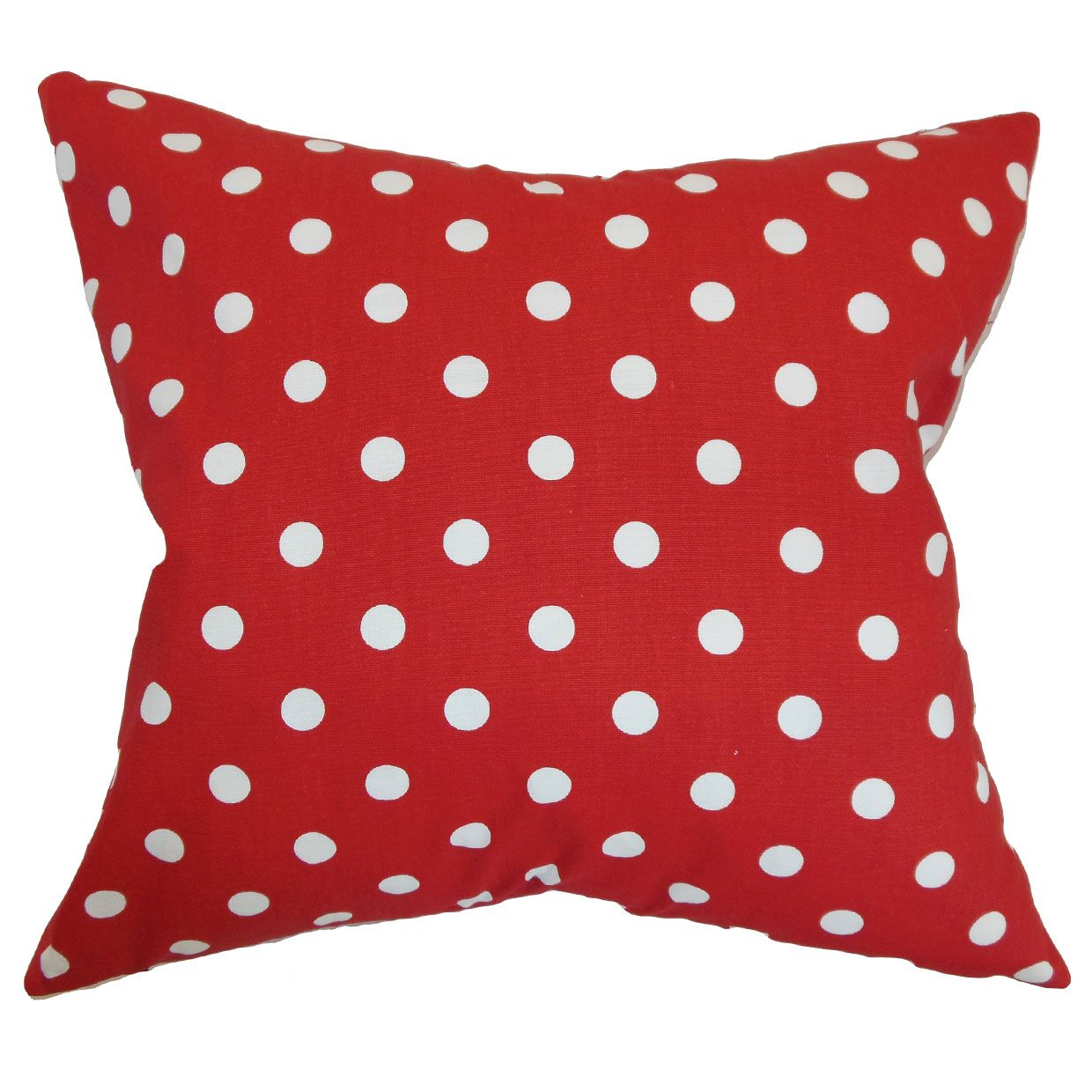 Nancy Polka Dots Bedding Sham Size: King, Color: Lipstick Red