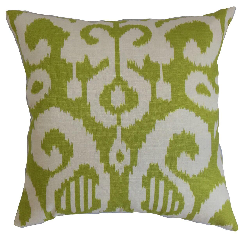 Teora Ikat Bedding Sham Size: Standard, Color: Lime