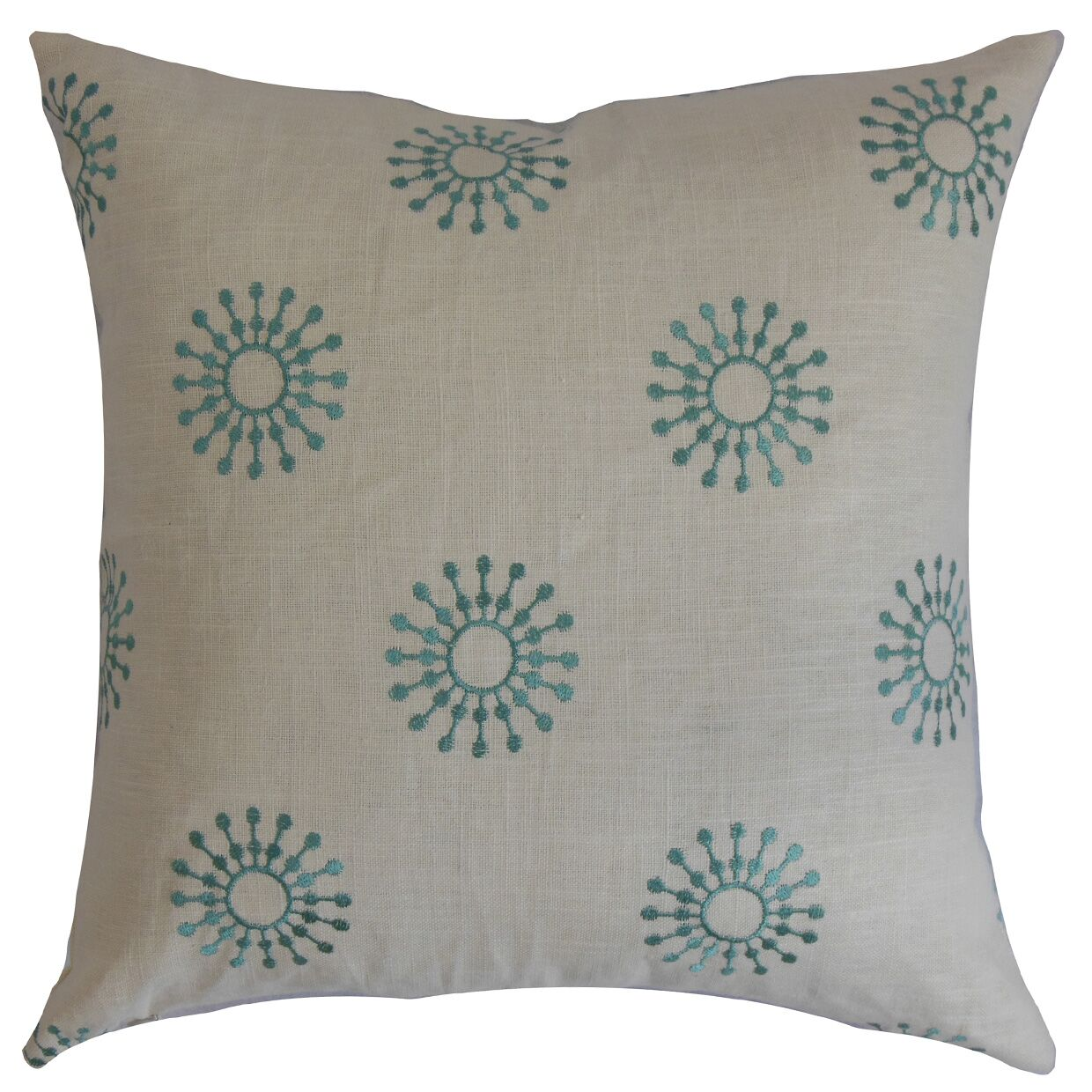 Irece Floral Cotton Throw Pillow Size: 20