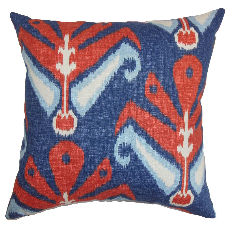 Sakon Ikat Bedding Sham Size: Queen, Color: Blue/Red