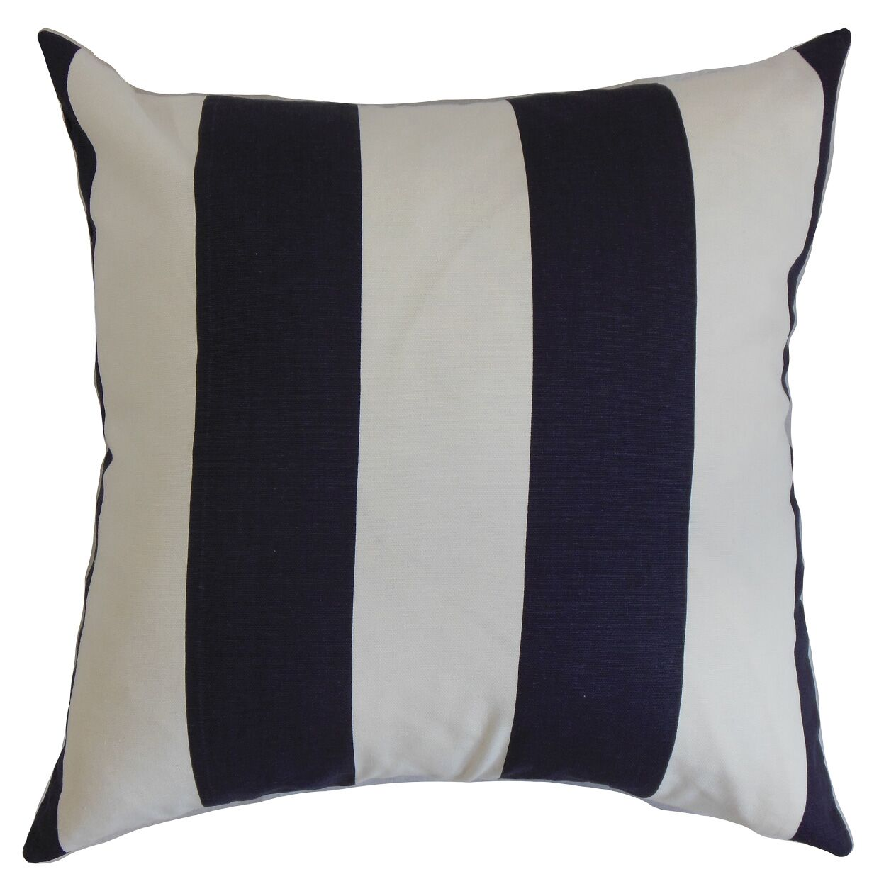 Leesburg Cotton Throw Pillow Color: Blue / White, Size: 24