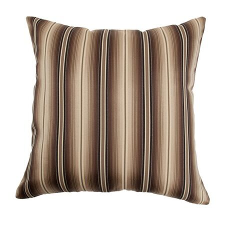 Bailey Stripes Throw Pillow Color: Storm, Size: 22