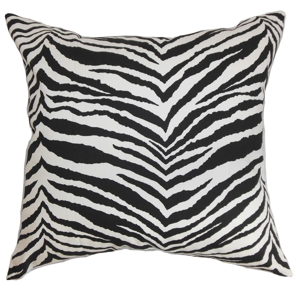 Cecania Cotton Throw Pillow Color: Black, Size: 24