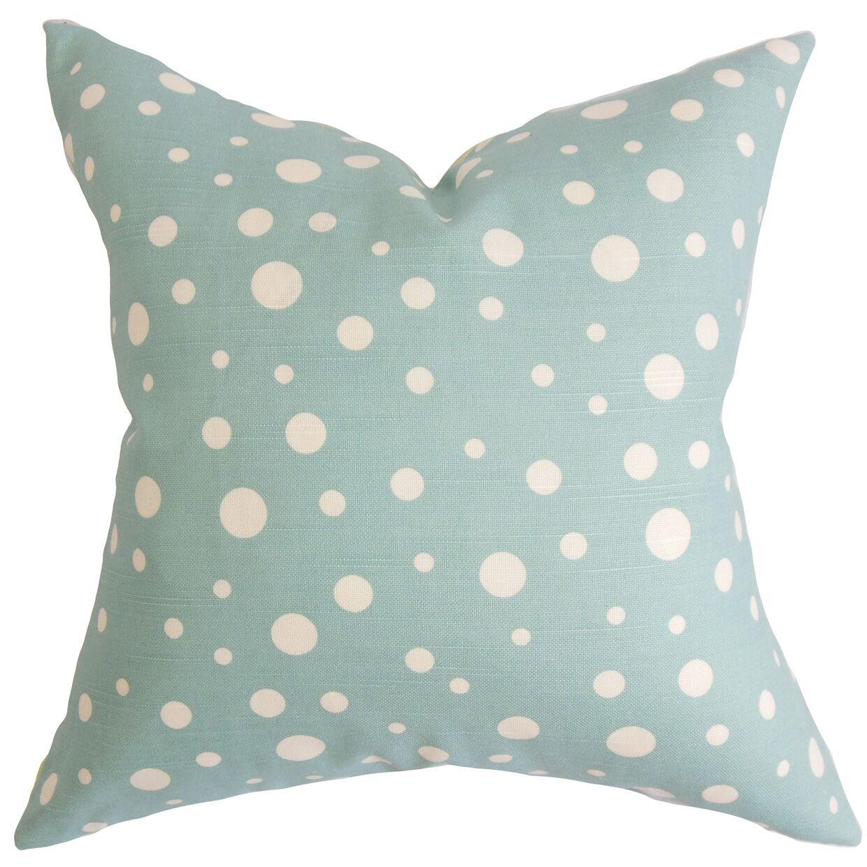 Bebe Polka Dots Bedding Sham Size: Standard, Color: Blue