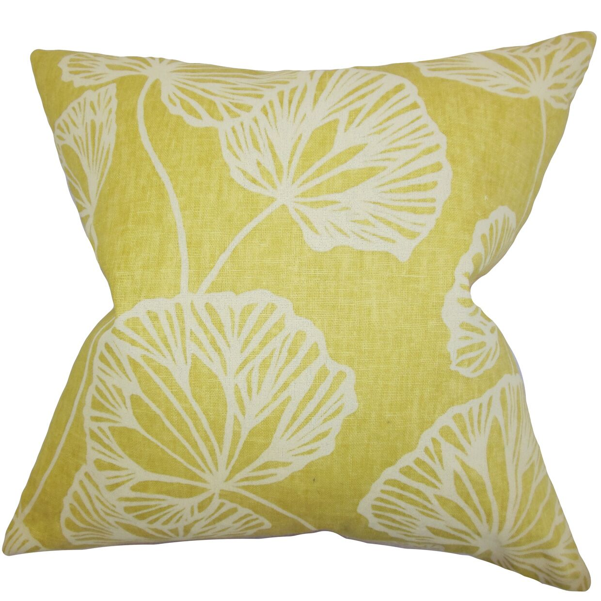 Fia Floral Bedding Sham Size: Queen, Color: Yellow