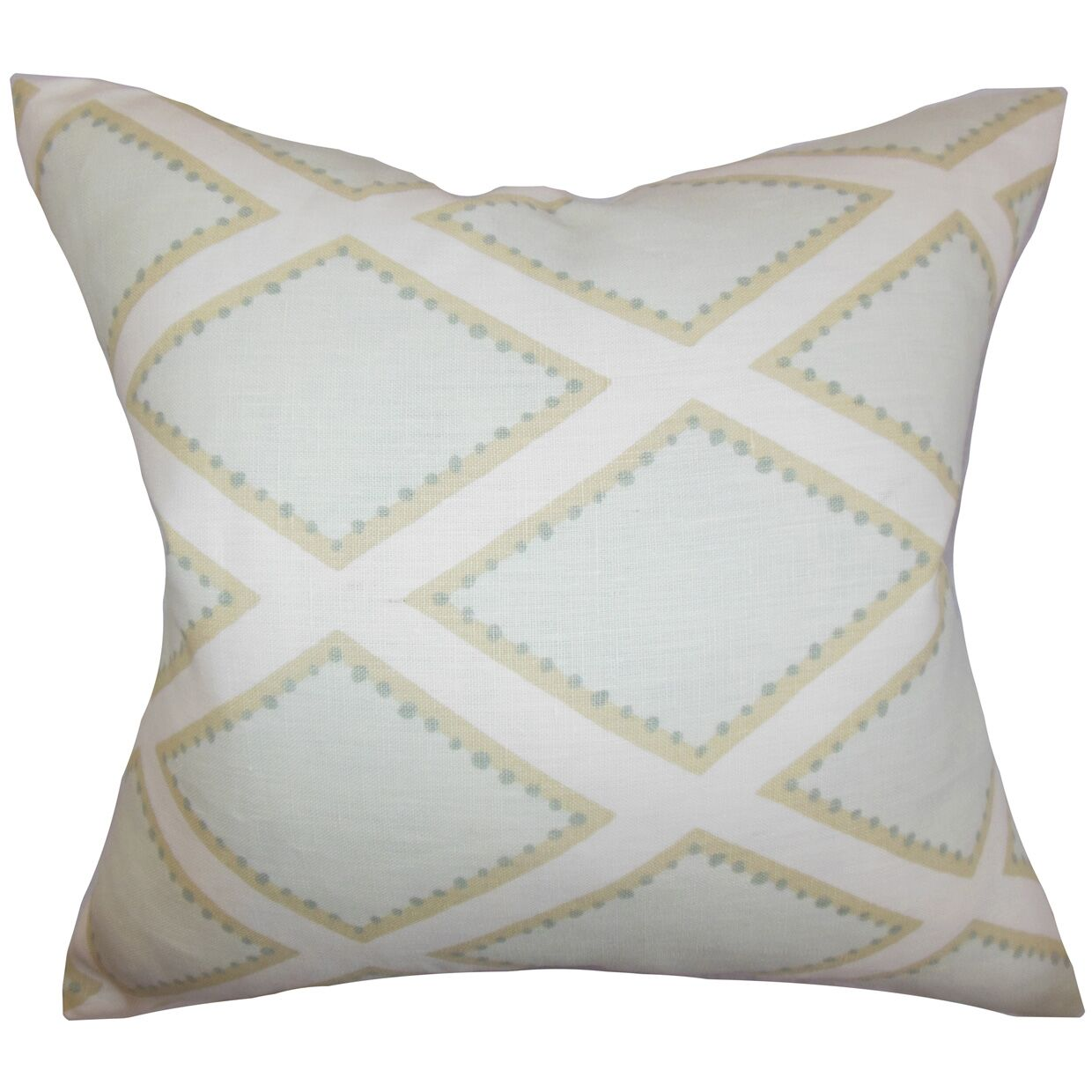 Alaric Geometric Cotton Throw Pillow Color: Opal, Size: 24