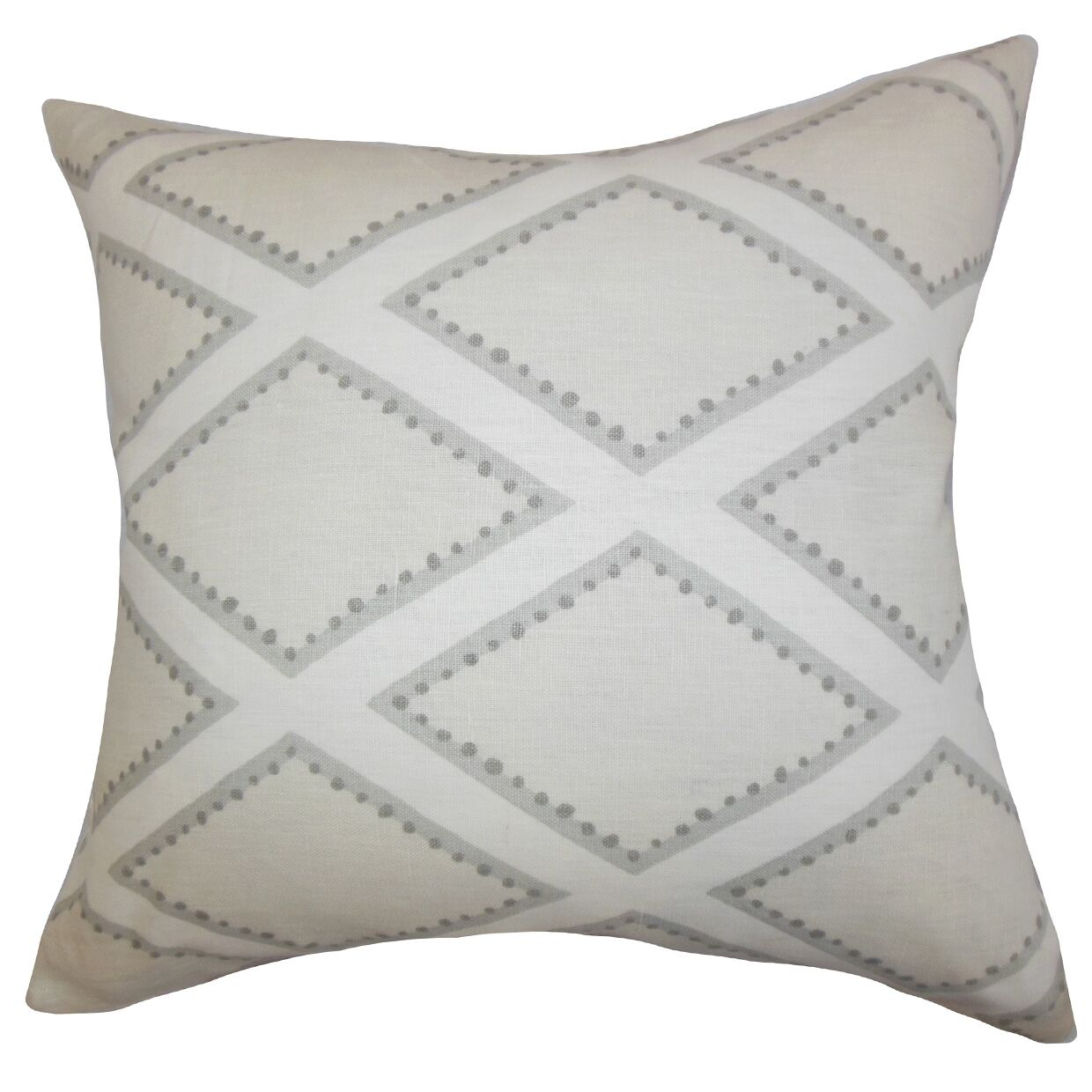Alaric Geometric Cotton Throw Pillow Color: Gray, Size: 20