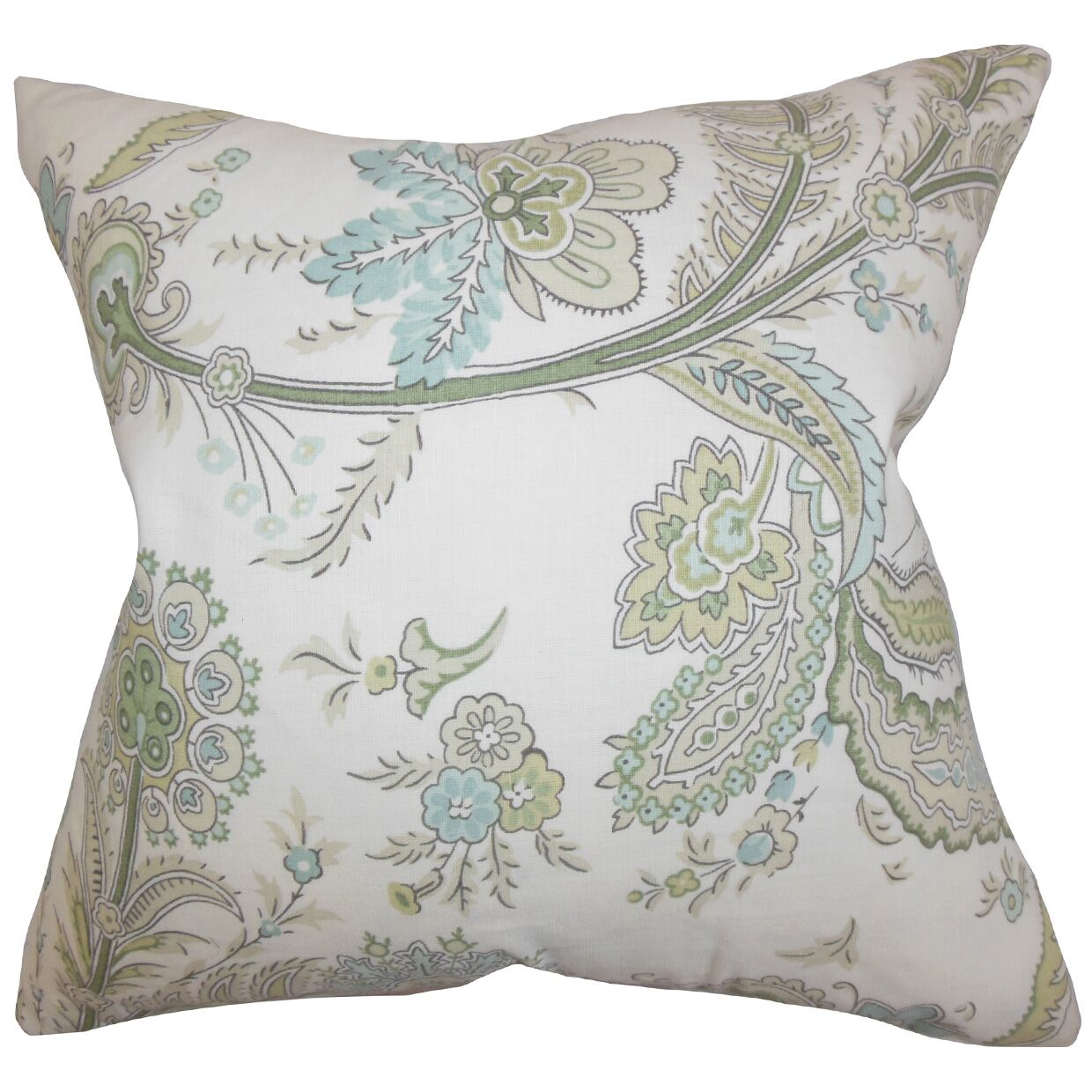 Dilys Floral Throw Pillow Color: Green, Size: 20