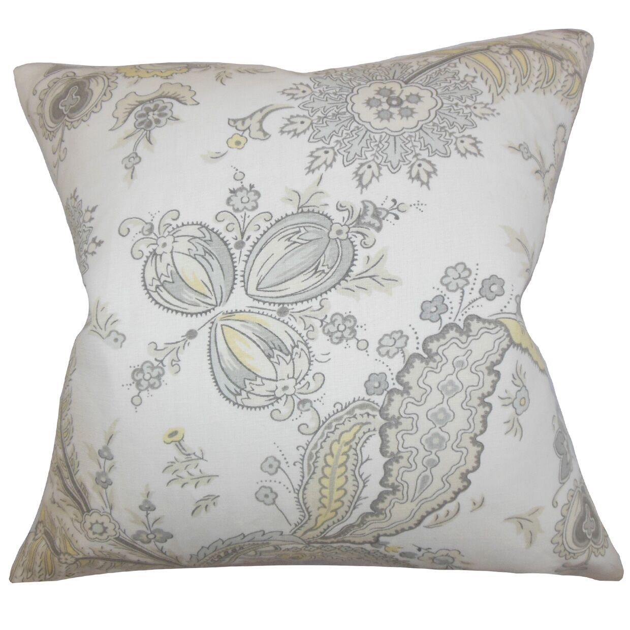 Dilys Floral Throw Pillow Color: Opal, Size: 22
