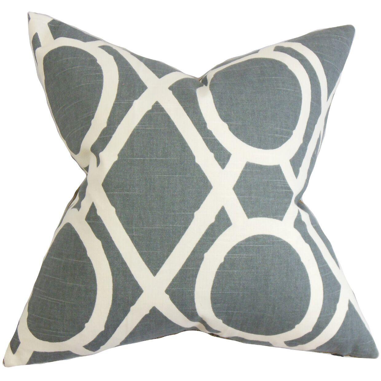 Whit Geometric Bedding Sham Size: Euro, Color: Gray