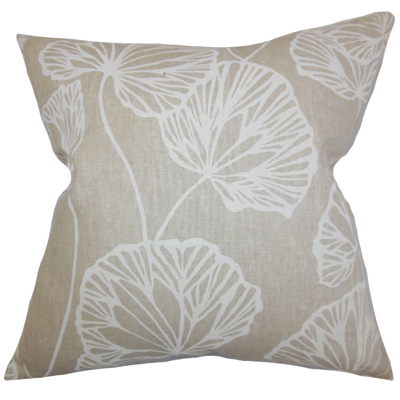 Fia Floral Bedding Sham Size: Euro, Color: Natural