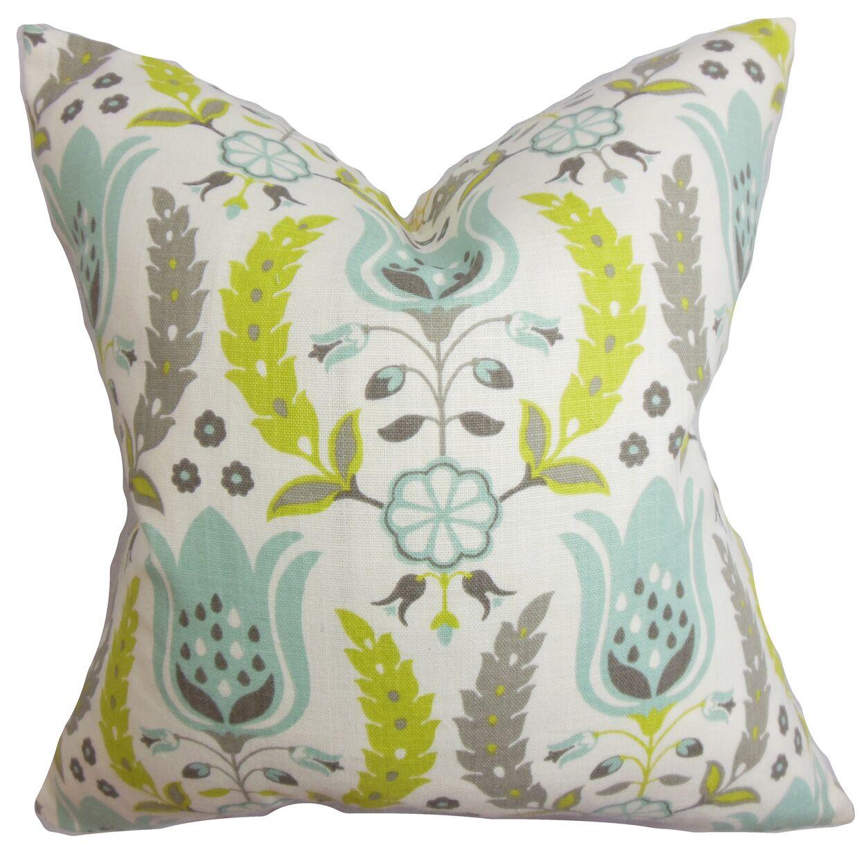 Mifflin Floral Bedding Sham Size: Queen, Color: Blue