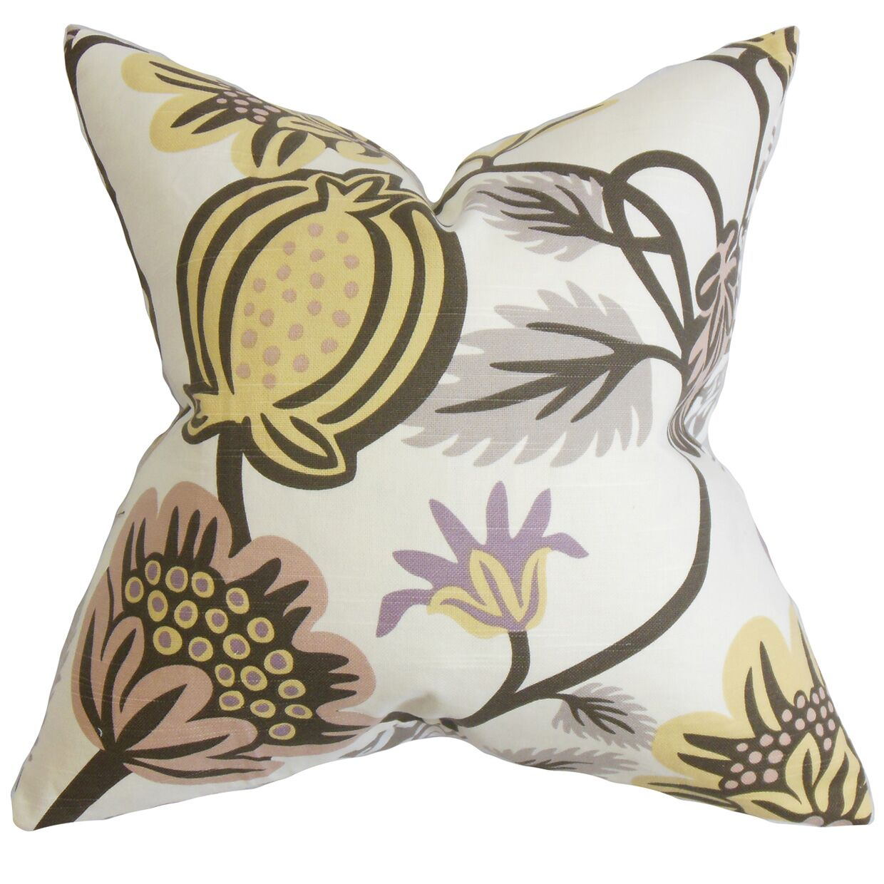 Quintana Floral Cotton Throw Pillow Size: 22