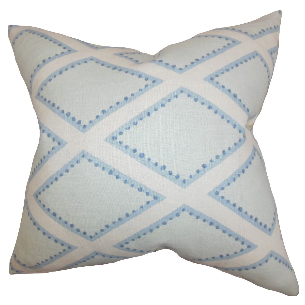 Alaric Geometric Cotton Throw Pillow Color: Chambray, Size: 24