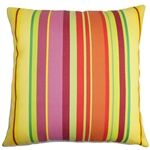 Laird Stripes Outdoor Throw Pillow Color: Sunbeam, Size: 22