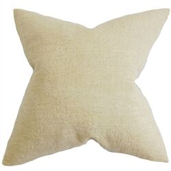 Yaretzi Solid Throw Pillow Color: Natural, Size: 24